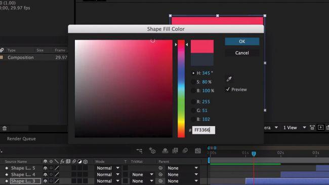 Add colours - طراحی انیمیشنی بارگذاری لوگو در After Effects