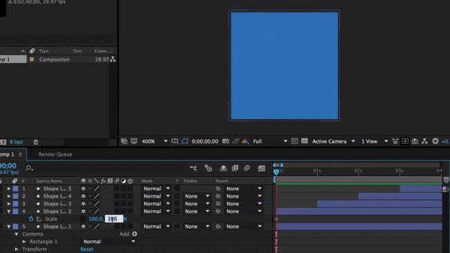 Create keyframe - طراحی انیمیشنی بارگذاری لوگو در After Effects