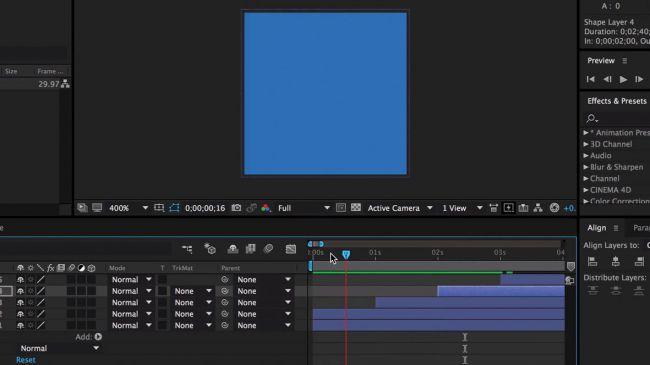 Do a first preview - طراحی انیمیشنی بارگذاری لوگو در After Effects