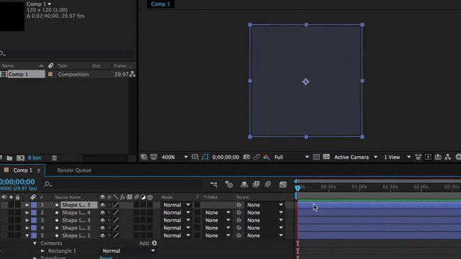 Duplicate your layers - طراحی انیمیشنی بارگذاری لوگو در After Effects