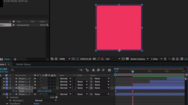 Make another keyframe - طراحی انیمیشنی بارگذاری لوگو در After Effects
