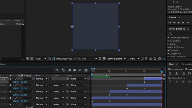 Make more keyframes 12 - طراحی انیمیشنی بارگذاری لوگو در After Effects