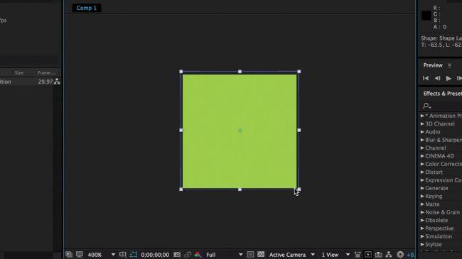 Make some shapes - طراحی انیمیشنی بارگذاری لوگو در After Effects