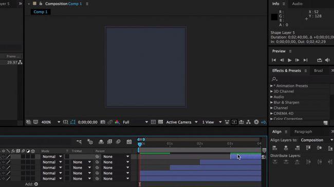 Stagger timing - طراحی انیمیشنی بارگذاری لوگو در After Effects