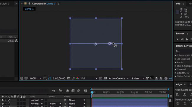 Use anchor points - طراحی انیمیشنی بارگذاری لوگو در After Effects